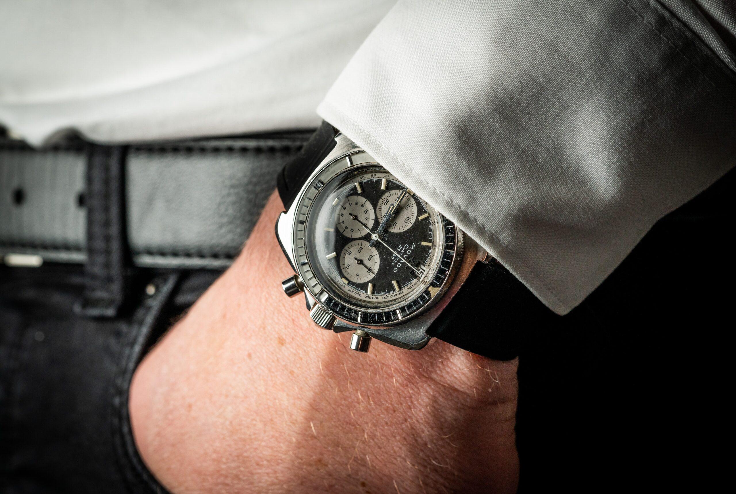 vintage movado datron chronograaf horloge