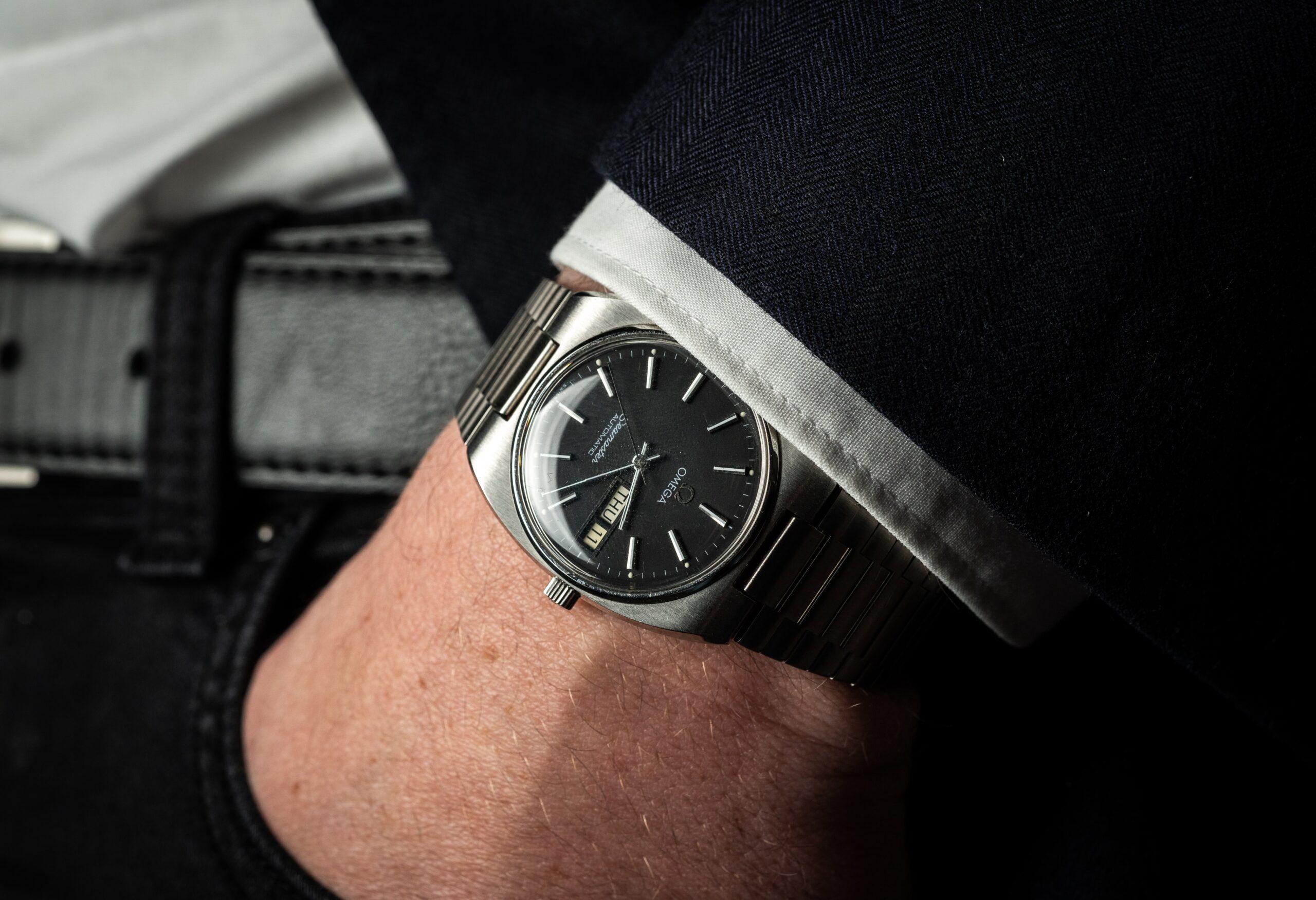 vintage horloge omega stalen band